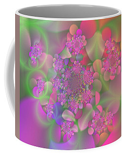 Coffee Mug featuring the digital art Pastel  Fractal Flower Garden by Judi Suni Hall