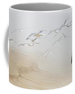 Pastel Gulls In Fog Coffee Mug