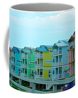 Coffee Mug featuring the digital art Pastel Houses by Randi Grace Nilsberg