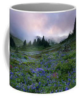 Pastel Mountain Dawn Coffee Mug