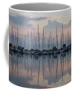 Pastel Sailboats Reflections At Dusk Coffee Mug