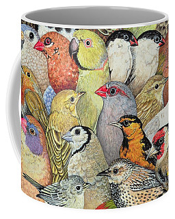 Patchwork Birds Coffee Mug