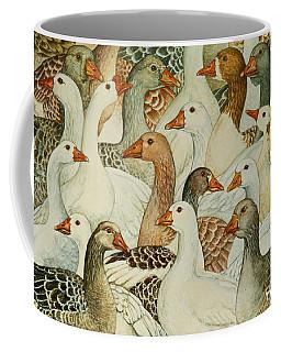 Patchwork Geese Coffee Mug