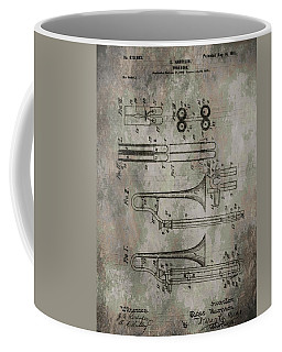 Patent Art Trombone Coffee Mug