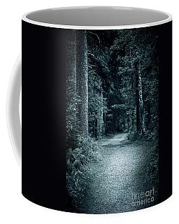 Path In Night Forest Coffee Mug