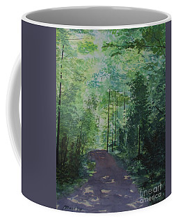 Coffee Mug featuring the painting Path To The River by Martin Howard