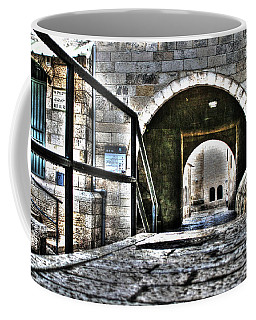 Coffee Mug featuring the photograph Pathway Through Old Jerusalem by Doc Braham