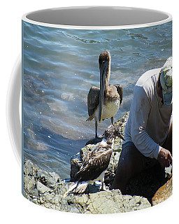 Coffee Mug featuring the photograph Patient Pelicano  by Brian Boyle
