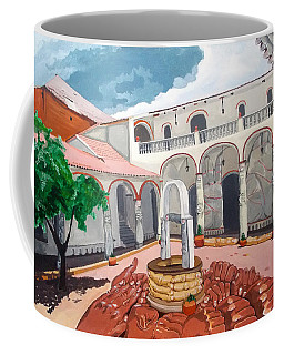 Patio Colonial Coffee Mug by Lazaro Hurtado