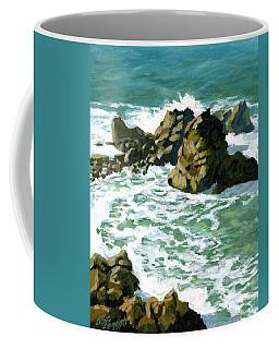 Patricks Point Rocks Coffee Mug by Alice Leggett