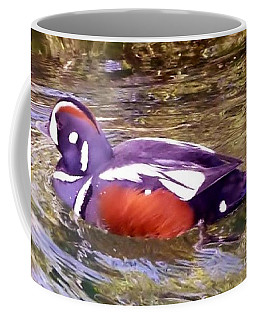 Coffee Mug featuring the photograph Patriot Duck by Susan Garren