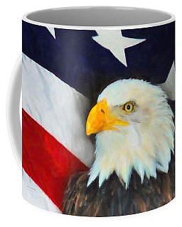 Patriotic American Flag And Eagle Coffee Mug