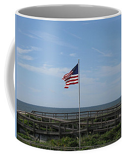 Patriotic Beach View Coffee Mug