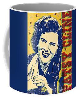 Patsy Cline Pop Art Coffee Mug by Jim Zahniser