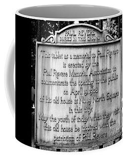 Paul Revere Burial Plaque Boston Massachusetts Coffee Mug