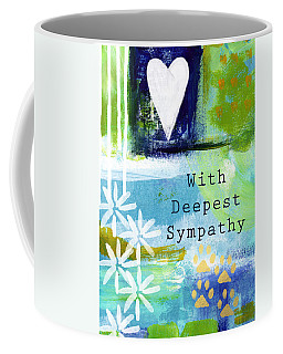 Paw Prints And Heart Sympathy Card Coffee Mug