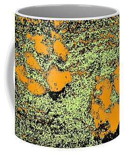 Paw Prints In Orange Lime And Black Coffee Mug