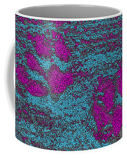 Paw Prints In Pink And Turquoise Coffee Mug