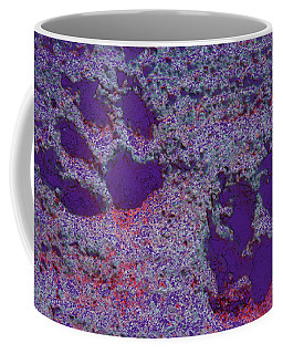 Paw Prints In Purple With Red Glow Coffee Mug