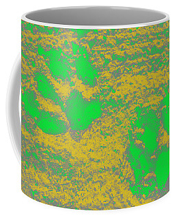 Paw Prints In Yellow And Lime Coffee Mug