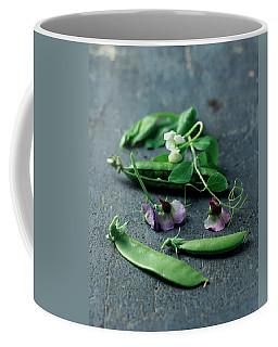 Pea Pods And Flowers Coffee Mug