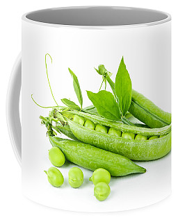 Pea Pods And Green Peas Coffee Mug
