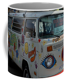 Coffee Mug featuring the photograph Peace And Love Van by Dany Lison