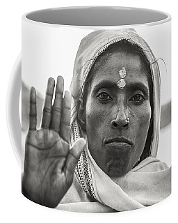 Peace Be With You Coffee Mug by Valerie Rosen