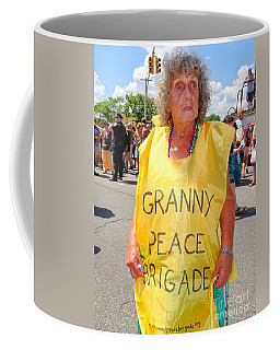 Coffee Mug featuring the photograph Peace Granny by Ed Weidman