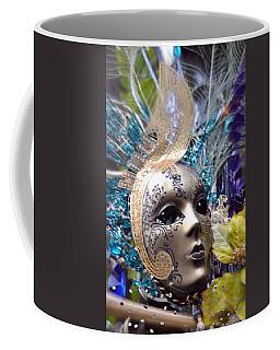 Coffee Mug featuring the photograph Peace In The Mask by Amanda Eberly-Kudamik