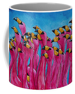Peace Love And Flamingos Coffee Mug