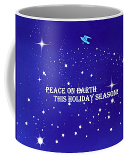 Peace On Earth Card Coffee Mug by Kathy Barney
