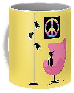 Coffee Mug featuring the digital art Peace Symbol by Donna Mibus