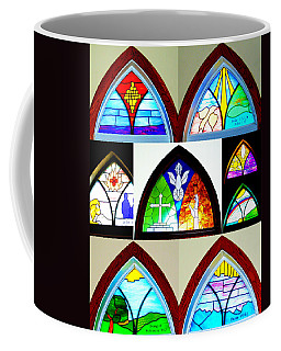 Peace To All Who Enter Here Coffee Mug by Cricket Hackmann