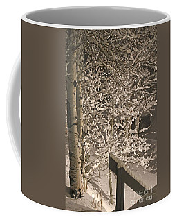 Coffee Mug featuring the photograph Peaceful Blizzard by Fiona Kennard