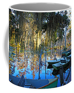 Peaceful Boat Landing By Jan Marvin Coffee Mug