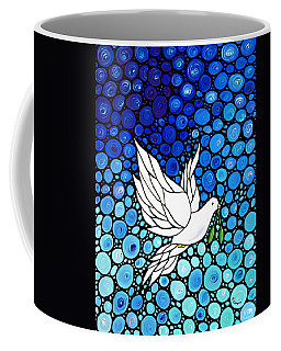 Peaceful Journey - White Dove Peace Art Coffee Mug