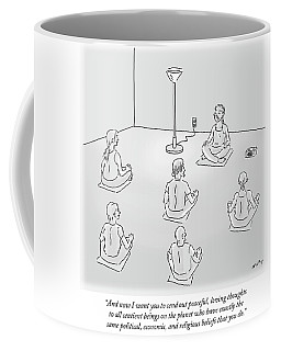 Peaceful Loving Thoughts To All Sentient Beings Coffee Mug