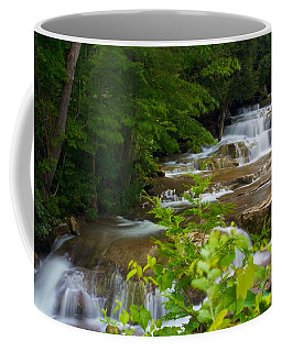 Coffee Mug featuring the photograph Peaceful Stockbridge Falls  by Dave Files