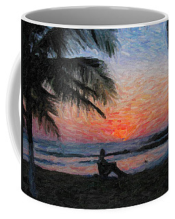 Peaceful Sunset Coffee Mug by David Gleeson