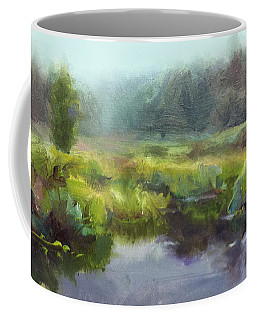 Peaceful Waters Impressionistic Landscape  Coffee Mug