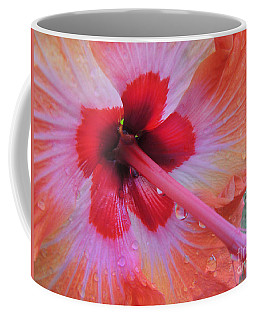 Peach Hibiscus Coffee Mug by Kristine Merc