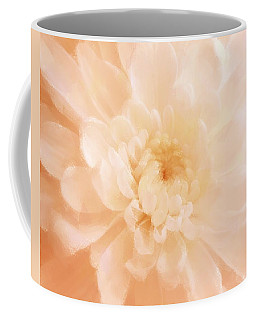 Peach Mum Luminous Painted Blossom Coffee Mug