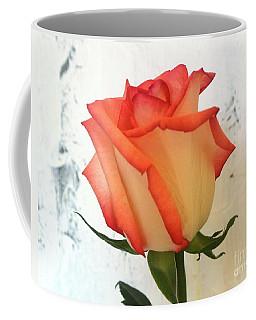 Peach Trim Rose Coffee Mug
