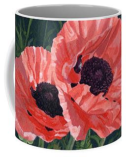 Peachy Poppies Coffee Mug
