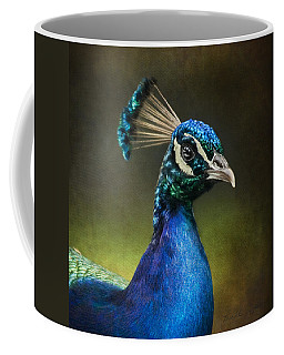 Peacock Coffee Mug by Ann Lauwers