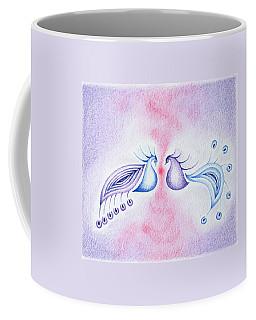 Peacock Dance Coffee Mug by Keiko Katsuta