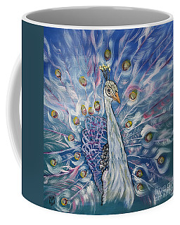 Peacock Dressed In White Coffee Mug
