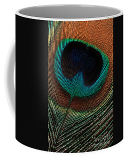 Peacock Feather Coffee Mug by Jerry Fornarotto