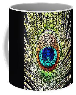 Peacock Feather - Stone Rock'd Art By Sharon Cummings Coffee Mug